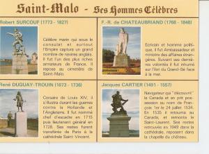 Postal 032501 : Sanit Malo - Cite Corsaire. Berceau dhommes celebres. Le Cote...