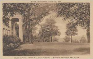 West Virginia Wheeling Oglebay Park Mansion Entrance And Lawn Albertype