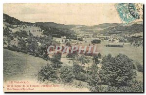 Old Postcard Le Val d'Ajol The Road Feuillee Dorothee Hotel