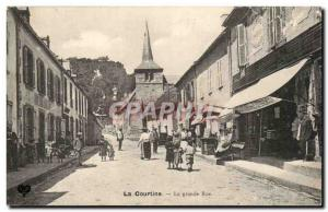 Old Postcard Creuse La Courtine The main street