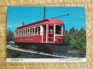 OTAWA STREETCAR #15 WITH CLEAR STORY ROOF.VTG TROLLEY POSTCARD WITH STATS*P35
