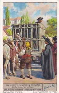 Liebig Vintage Trade Card S1334 Don Quixote II 1936 No 6 Le retour au village