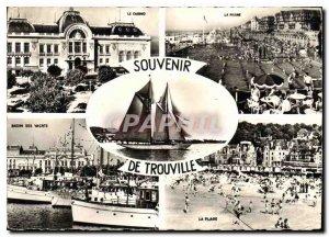 Modern Postcard Souvenir de Trouville Casino Pool Yacht Basin Beach