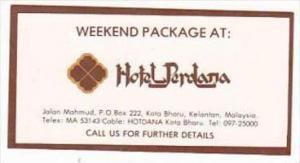 MALAYSIA KOTA BHARU KELANTAN HOTEL PERDANA