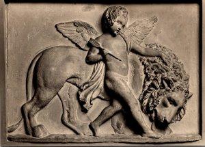 Denmark Copenhagen Thorvaldsen's Museum Cupid With The Tamed Lion