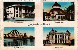 CPA AK Souvenir de Hanoi VIETNAM-INDOCHINA (840834)