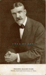 1912 Cincinnati Ohio Postcard: Piano Instructor Frederick Shailer Evans - Rare!