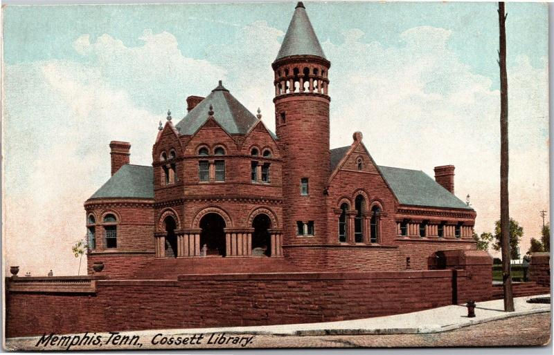 Cossett Library Memphis Tennessee Vintage Postcard H11