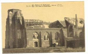 Zeebrugge , Belgium, 1918  Ruines de Zeebrugge,  The Church