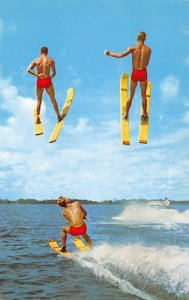 Water Sports Postcard Skiing Through the Air With the Greatest of Ease Cypres...
