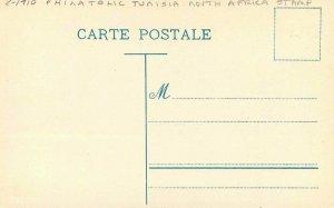 C-1910 Philatelic Tunisia North Africa Stamp Postcard 21-9482