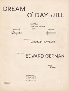 Dream O Day Jill Olde Edward German Sheet Music