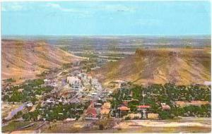 View of the City of Golden, Colorado, CO, 1972 Chrome