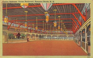 Casino Ballroon, Ocean Boulevard, Hampton Beach, N.H., Early Postcard, Used