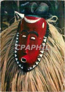 Postcard Modern African Mask Baoule