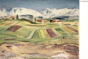 Heinrich Brune Oberbayerische Landschaft German Old Painting Postcard