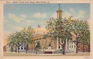 Pennsylvania West Chester County Court House 1941