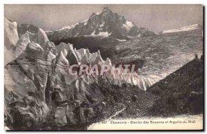 Old Postcard Chamonix Glacier Bossones And The Aiguille Du Midi