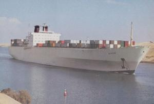 MS Nihon ScanDutch Container Transport Ship Postcard