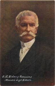 MINISTER SIDNEY SONNINO ITALY WW I
