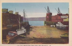 Boats, Low Tide, Bed & Bow Fruit Produce, Market Slip, Saint John, New Brunsw...