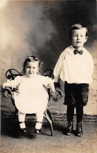 F36/ Jackson Ohio RPPC Postcard c1913 Floyd Evans Flora Kids 3