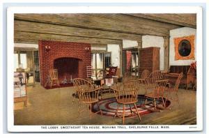 Postcard Lobby, Sweetheart Tea House, Mohawk Trail, MA 1926 B8