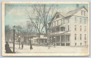 Whitewater Wisconsin~Ladies on Main Street~Hotel Walworth~Nice Homes~1920 B&W
