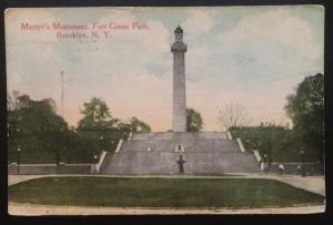 Martyr's Monument, Brooklyn, N.Y. 1919 Success Postal Card Co. 3044