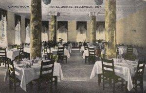 BELLEVILLE , Ontario , Canada , 1908; Dining Room, Hotel Quinte