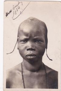RP Native Head Portrait A.O.F.- GUINEE, Young Malinke Tribeswoman, 1934