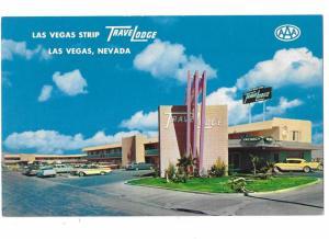 Travel Lodge on the Strip 1950s Cars Las Vegas Nevada