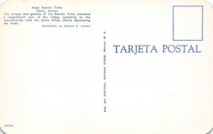 HOTEL RANCHO TELVA Taxco, Mexico Santa Prisca Church c1950s Vintage Postcard