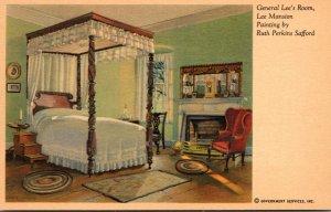 Virginia Arlington Lee Mansion General Lee's Room Painting By Ruth Perki...