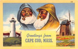 Post Card Old Vintage Antique Greetings from Cape Cod, MA, USA Unused