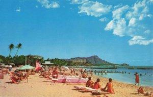Postcard Duke Kahanamoku Beach Waikiki Hawaii