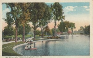 BALTIMORE , Maryland , 1910s ; Lake , Patterson Park