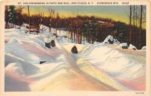 12260  NY Lake Placid 1940's   Mt. Van Hoevenberg  Olympic Bob Run