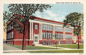Public High School St Marys, Pennsylvania PA