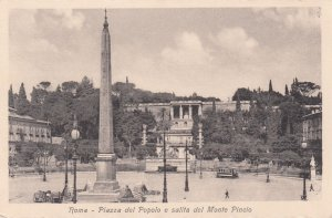 ROMA, Italy, 1900-10s; Piazza del Popolo e salita del Monte Pincio