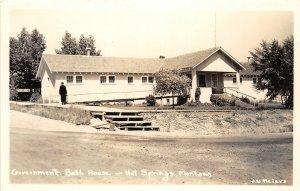 G52/ Hot Springs Montana RPPC Postcard c40s Governement Bath House