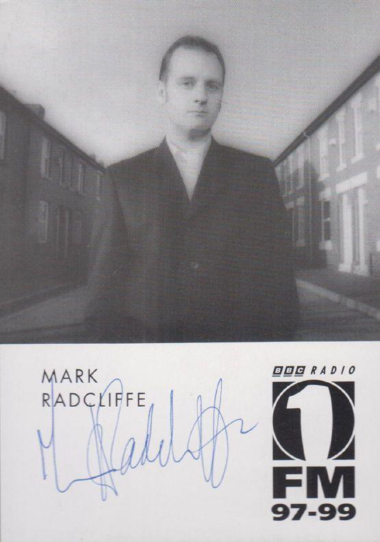 Mark Radcliffe Official Radio One 1 Publicity Card Hand Signed Photo