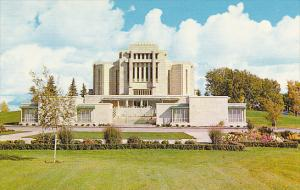 Canada The Mormon Temple Cardston Alberta