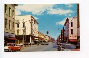 Washington IN Street View Old Cars Vintage Store Fronts Postcard