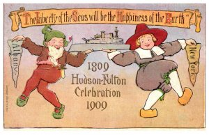 Hudson-Fulton Celebration 1909 Lepercon, Pilgrim , Ship , New York Albany