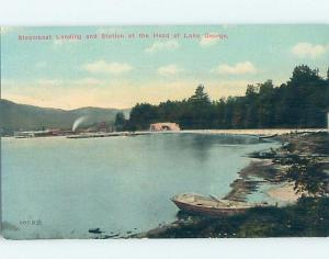 Divided-Back LAKE SCENE Adirondacks - Lake George New York NY hp6776