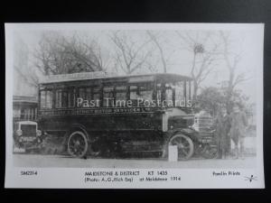 Omnibus MAIDSTONE & DISTRICT KT 1435 Pamlin Print Postcard SM2314