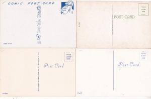 0177 Grabbag Auction 4 Comic Postcards Starting At .99