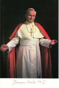 Pope John Paul II Portrait Postcard