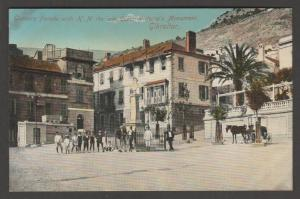 Gibraltar-Gunners Parade Queen Victoria's Monument Postcard cpa c1907